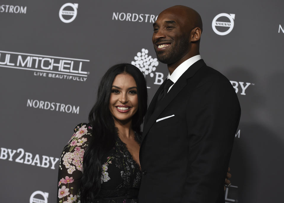 Kobe Bryant, right, and Vanessa Laine Bryant attend the 2018 Baby2Baby Gala on Saturday, Nov. 10, 2018 in Culver City, Calif. (Photo by Jordan Strauss/Invision/AP)