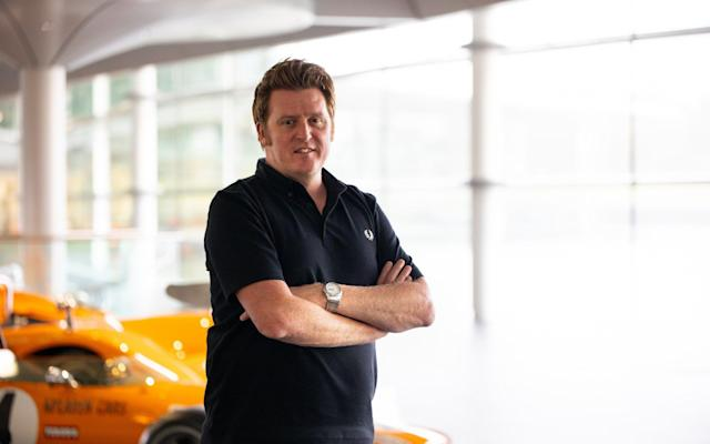 Rod Ellingworth at the McLaren Technology Centre - TELEGRAPH SPORT
