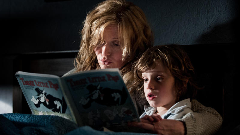 Essie Davis and Noah Wiseman in 'The Babadook'. (Credit: Icon Distribution)