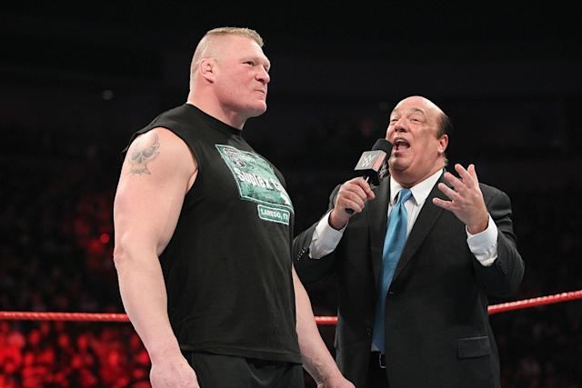Brock Lesnar and Paul Heyman wwe