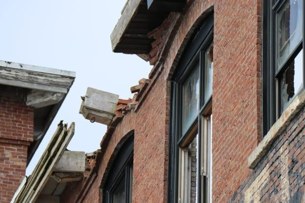 Locals noticed the collapsed roof on Saturday. The owners of the building sent a structural engineer to assess the damage and prevent anyone from going inside — a not uncommon occurrence, despite 'no trespassing' signs.