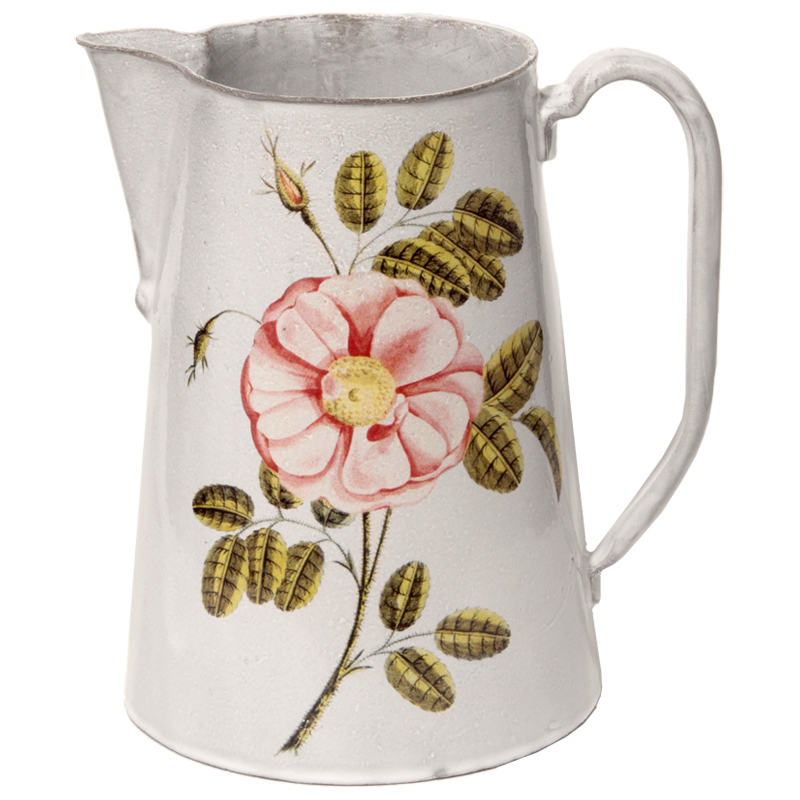 """<p>johnderian.com</p><p><strong>$452.00</strong></p><p><a href=""""https://www.johnderian.com/collections/vases-pitchers/products/painted-rose-pitcher-vsejhn8-png"""" rel=""""nofollow noopener"""" target=""""_blank"""" data-ylk=""""slk:Shop Now"""" class=""""link rapid-noclick-resp"""">Shop Now</a></p><p>""""[Though this is] adorned with rose, don't let that dictate, although one or two would be nice,"""" says Moss of this vintage-inspired pick. """"This pitcher is calling for a mixed bouquet as if freshly picked from a garden. Blossoms could include sweet peas, columbine, a few anemones, ranunculus, chamomile flowers, zinnias, a sprig or two of ivy to trail over the edge—any combination will do."""" </p>"""