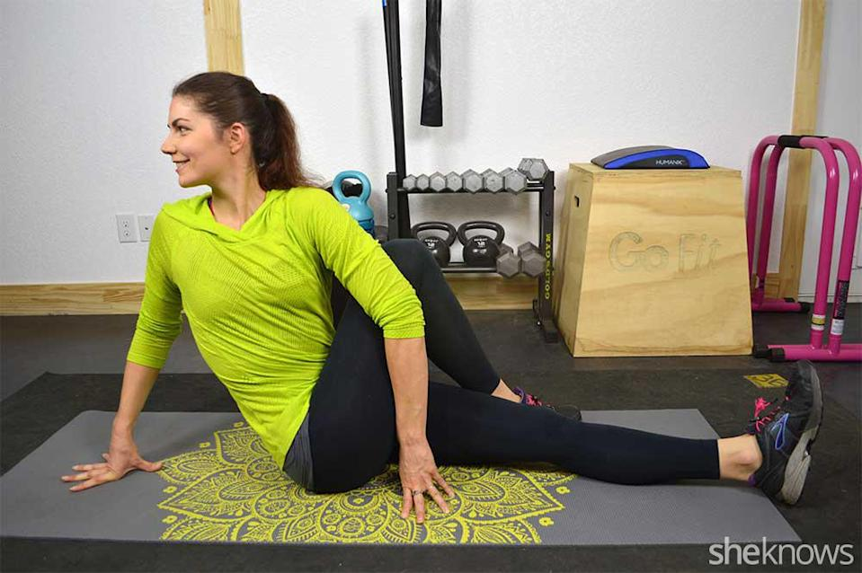 Hip and spinal twist
