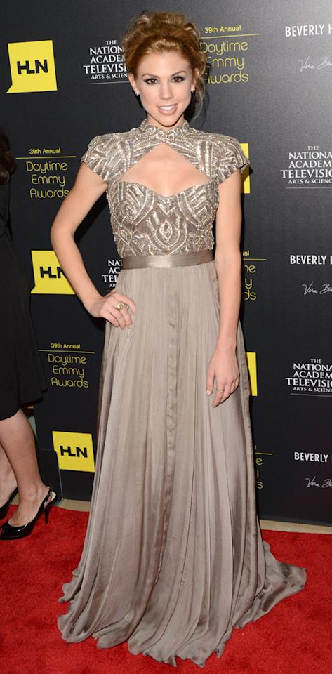 Kate Mansi arrives at The 39th Annual Daytime Emmy Awards held at The Beverly Hilton Hotel on June 23, 2012 in Beverly Hills, California.