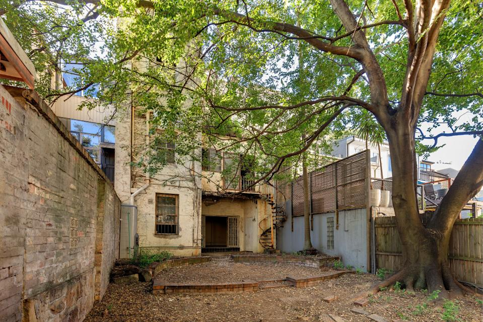 The back of a dilapidated house in Darlinghurst, Sydney.