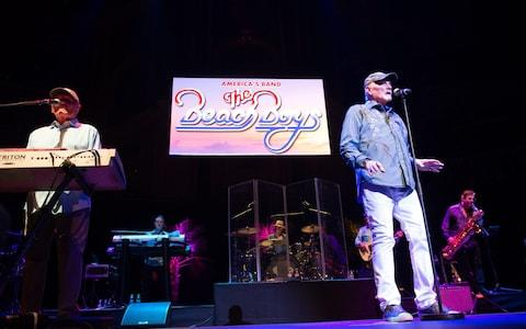 Love and keyboardist Bruce Johnston of The Beach Boys - Credit: Justin Ng/Retna/Avalon.red