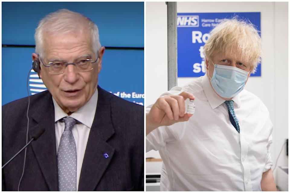 Josep Borrell attacked Boris Johnson's government after the EU lost its fill diplomatic status in the UK. (European Commission/Getty Images)