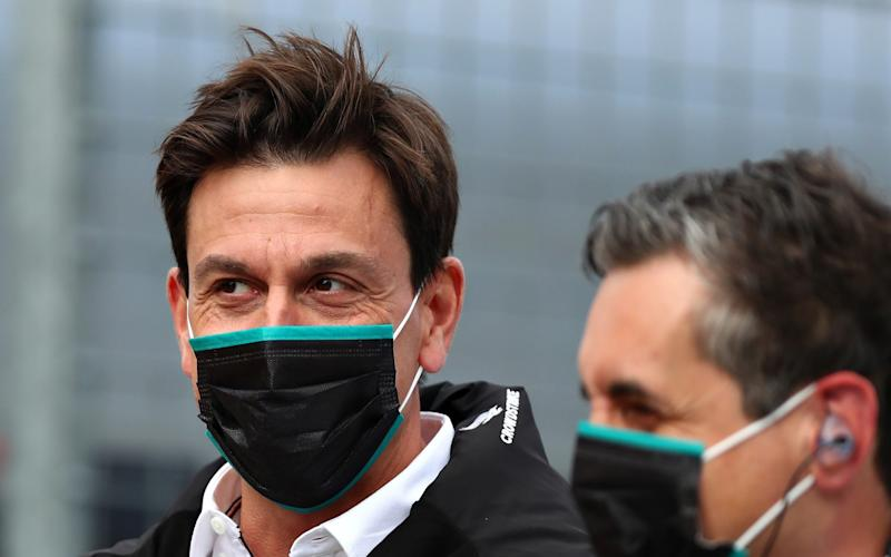 Mercedes GP Executive Director Toto Wolff looks on at parc ferme during the Formula One Grand Prix of Styria at Red Bull Ring on July 12, 2020 in Spielberg, Austria - Getty Images