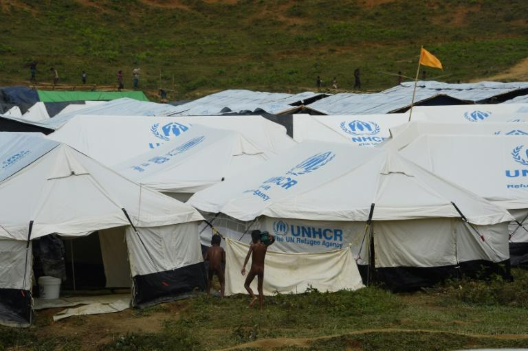 Tents set up by the UN refugee agency at the site have quickly filled up