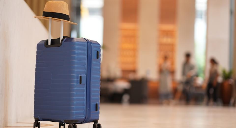Take the stress out of check-in with this smart self-weighing suitcase. (Getty Images)