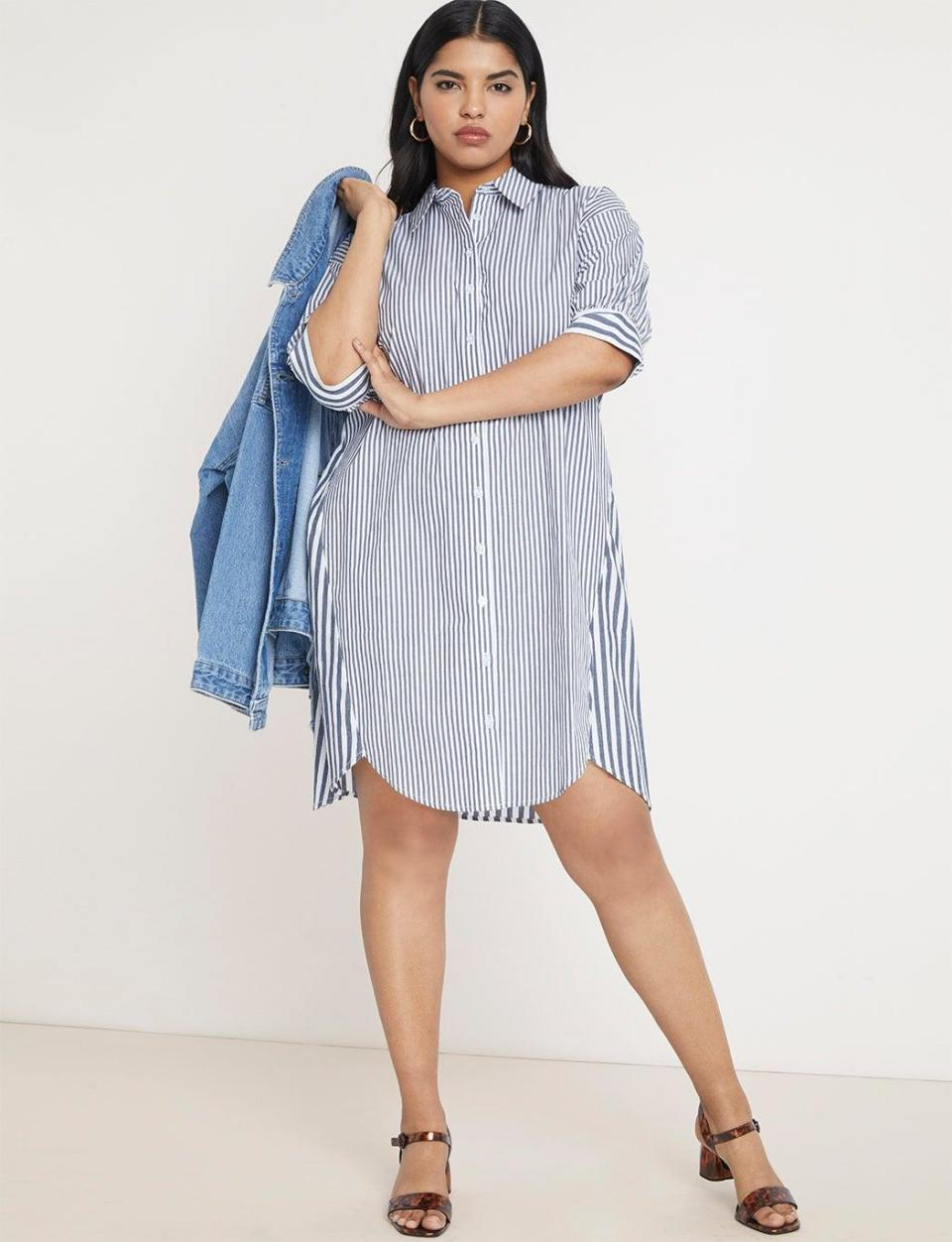 "Score 50% off on select summer clothes at <a href=""https://www.eloquii.com/"" rel=""nofollow noopener"" target=""_blank"" data-ylk=""slk:Eloquii"" class=""link rapid-noclick-resp"">Eloquii</a> using the checkout code SALETIME. <br> <br> <strong>Eloquii</strong> Contrast Stripe High-Low Dress, $, available at <a href=""https://go.skimresources.com/?id=30283X879131&url=https%3A%2F%2Fwww.eloquii.com%2Fcontrast-stripe-high-low-dress%2F1248113.html%3Fdwvar_1248113_colorCode%3D9"" rel=""nofollow noopener"" target=""_blank"" data-ylk=""slk:Eloquii"" class=""link rapid-noclick-resp"">Eloquii</a>"