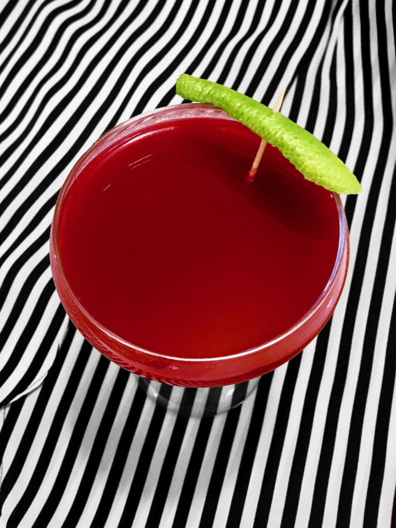 This cocktail is the perfect healthy Halloween treat. (Photo: Natasha Otrakji/Pokito Brooklyn)