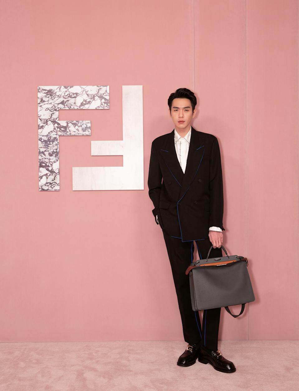 Actor Zhang Ruoyun at Fendi Shanghai show. (PHOTO: Fendi)