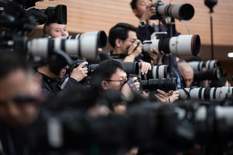 The press freedom watchdog said it counted at least 48 journalists jailed in China, one more than in 2018, as President Xi Jinping ramps up efforts to control the media (AFP Photo/Fred DUFOUR)