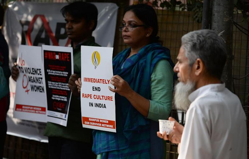 Violence against women protest India