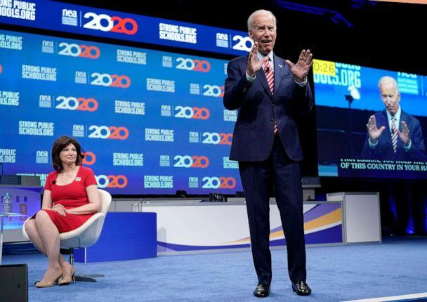 PHOTO: Democratic presidential candidate Joe Biden speaks during the National Education Association Strong Public Schools Presidential Forum, July 5, 2019, in Houston. (David J. Phillip/AP, FILE)