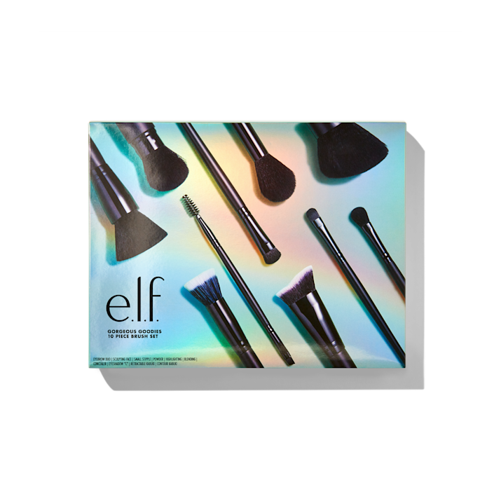 """<h2>E.L.F. Cosmetics Gorgeous Goodies 10 Piece Brush Set</h2><br><br>For the budding makeup artist in your life, pick up this set, which includes 10 pro-quality brushes to shade and sculpt every one of their fun holiday looks.<br><br><strong>ELF Cosmetics</strong> Gorgeous Goodies 10 Piece Brush Set, $, available at <a href=""""https://go.skimresources.com/?id=30283X879131&url=https%3A%2F%2Fwww.elfcosmetics.com%2Fgorgeous-goodies-10-piece-brush-set%2F70933.html%3Fcgid%3Dwhats-new%23start%3D20%26sz%3D36"""" rel=""""nofollow noopener"""" target=""""_blank"""" data-ylk=""""slk:ELF Cosmetics"""" class=""""link rapid-noclick-resp"""">ELF Cosmetics</a>"""