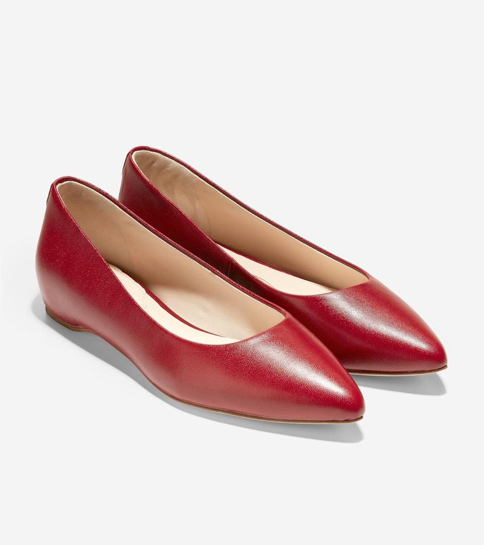 """<br><br><strong>Cole Haan</strong> Brenna Skimmer, $, available at <a href=""""https://go.skimresources.com/?id=30283X879131&url=https%3A%2F%2Ffave.co%2F3lDuSFn"""" rel=""""nofollow noopener"""" target=""""_blank"""" data-ylk=""""slk:Cole Haan"""" class=""""link rapid-noclick-resp"""">Cole Haan</a>"""