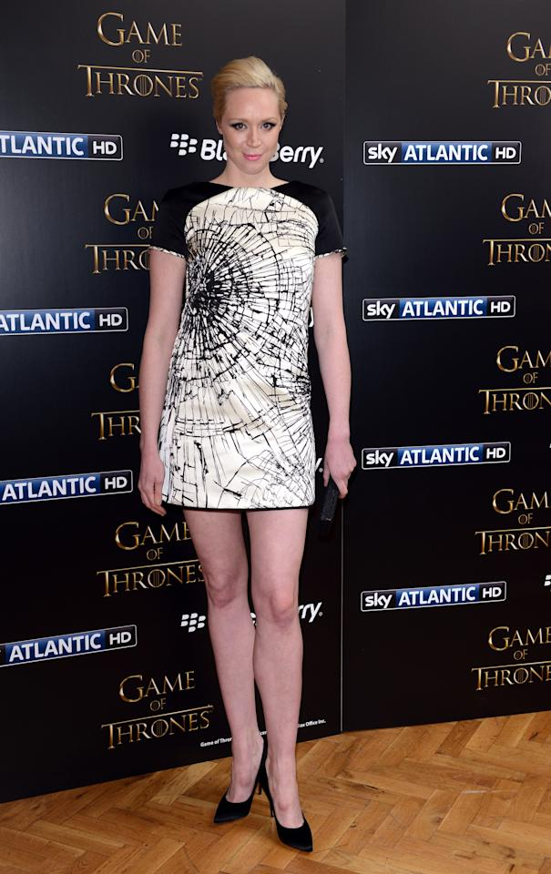 LONDON, UNITED KINGDOM - MARCH 26: Gwendoline Christie attends the season launch of 'Game of Thrones' at One Marylebone on March 26, 2013 in London, England. (Photo by Karwai Tang/Getty Images)