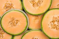 "<p>Cantaloupe is high in potassium, <a href=""https://www.goodhousekeeping.com/health/diet-nutrition/g35351259/vitamin-c-foods/"" rel=""nofollow noopener"" target=""_blank"" data-ylk=""slk:vitamin C"" class=""link rapid-noclick-resp"">vitamin C</a>, and folate. The flavonoids found in melon have anti-inflammatory, blood sugar-stabilizing, and immune-boosting properties. Plus, water-filled cantaloupe offers a <a href=""https://www.goodhousekeeping.com/health/diet-nutrition/a46956/how-much-water-should-i-drink/"" rel=""nofollow noopener"" target=""_blank"" data-ylk=""slk:hydration"" class=""link rapid-noclick-resp"">hydration</a> boost. You can make a cool <a href=""https://www.goodhousekeeping.com/food-recipes/a27530675/cucumber-and-cantaloupe-salad-with-savory-quinoa-granola-recipe/"" rel=""nofollow noopener"" target=""_blank"" data-ylk=""slk:salad"" class=""link rapid-noclick-resp"">salad</a> with cantaloupe and cucumber, with granola sprinkled on top for a bit of crunch!</p>"