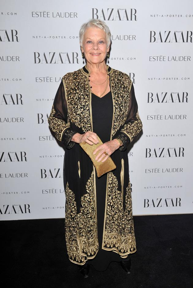 Judi Dench looked gorgeous in her detailed outfit.