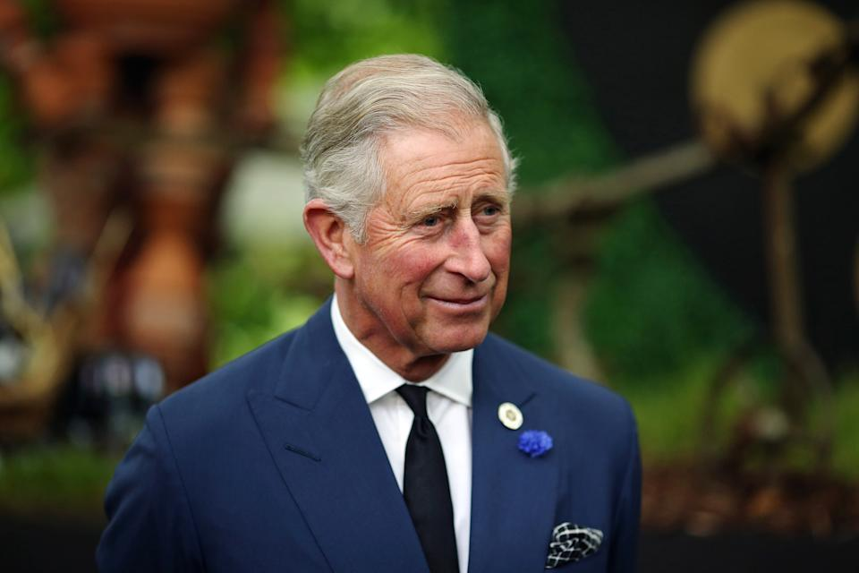 LONDON, ENGLAND - SEPTEMBER 11:  Prince Charles, Prince of Wales speaks to guests during a reception to celebrate the 21st anniversary of Duchy originals products at Clarence House on September 11, 2013 in London, England. The reception was held in the gardens of Clarence House, and attended by Duchy suppliers, Waitrose and other international stockists, customers, charitable beneficiaries and representatives of some of the charities who benefit from the sale of the products.  (Photo by Dan Kitwood - WPA Pool/Getty Images)