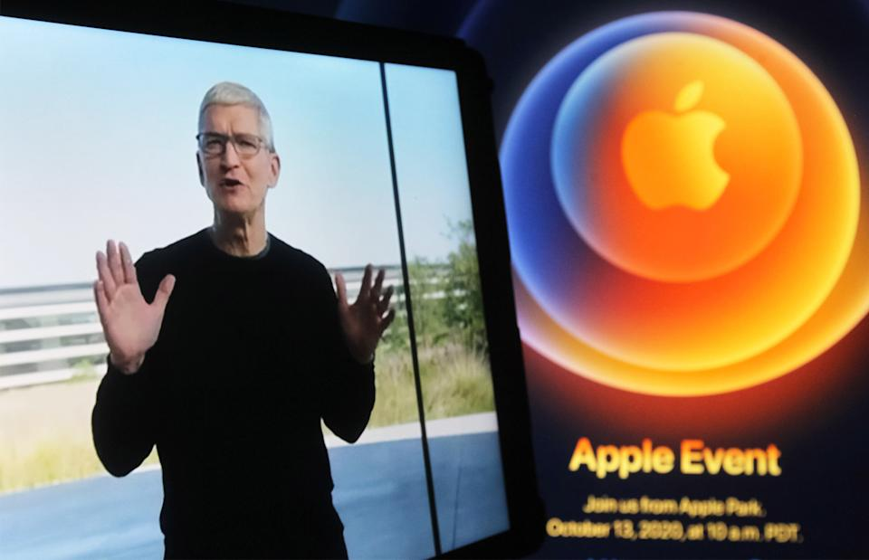 Tim Cook, chefe da Apple. (Foto: Pavlo Gonchar/SOPA Images/LightRocket via Getty Images)