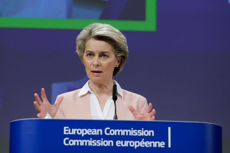 EU Commission head von der Leyen holds news conference on plans to tackle COVID-19 variants