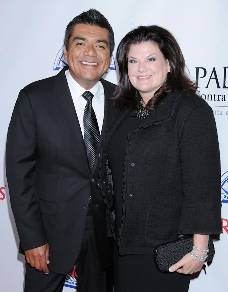 HOLLYWOOD, CA - SEPTEMBER 23: George Lopez and wife Ann Serrano arrive at Padres Contra El Cancer's 25th Anniversary Gala Honoring George Lopez & Enrique Alejo at The Hollywood Palladium on September 23, 2010 in Hollywood, CA. (Photo by Gregg DeGuire/PictureGroup)