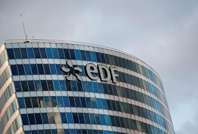 FILE PHOTO: A logo of French electric company EDF is seen at an office building in La Defense business district in Courbevoie near Paris