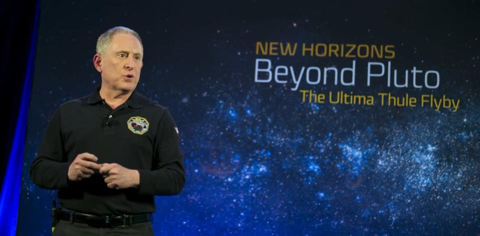 """<div class=""""inline-image__caption""""><p>Alan Stern, the principal investigator on NASA's New Horizons mission, which sent a probe past Pluto in 2015, says Brown is """"just wrong"""" about the demoted planet.</p></div> <div class=""""inline-image__credit"""">NASA/Joel Kowsky/Getty</div>"""