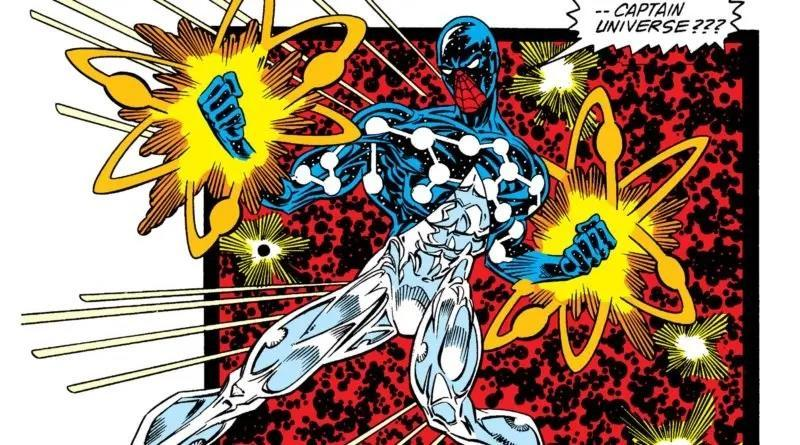 Cosmic Spider-Man using his god-tier powers.