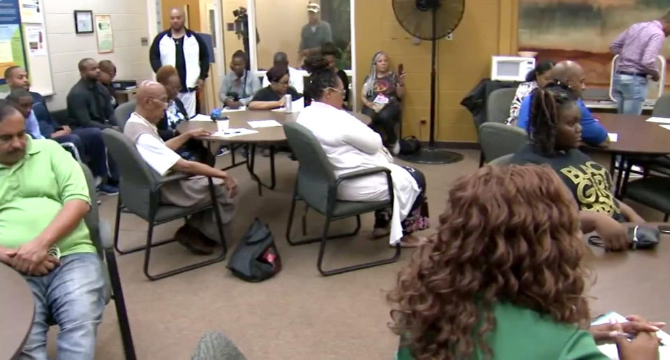 A school council meeting was called at <span>Dr. Martin Luther King Jr. College Prep </span>to discuss controversial remarks made by <span>the principal. </span>(Photo: ABC 7/Chicago Sun-Times)