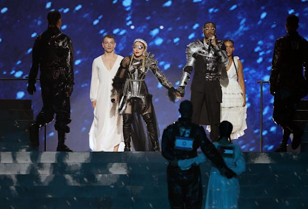 Eurovision: Madonna's flag display on stage causes stir