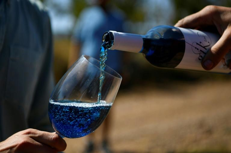 Blue wine? Nearly half a million bottles were sold last year by Gik Live! a Spanish startup set up by a group of university students