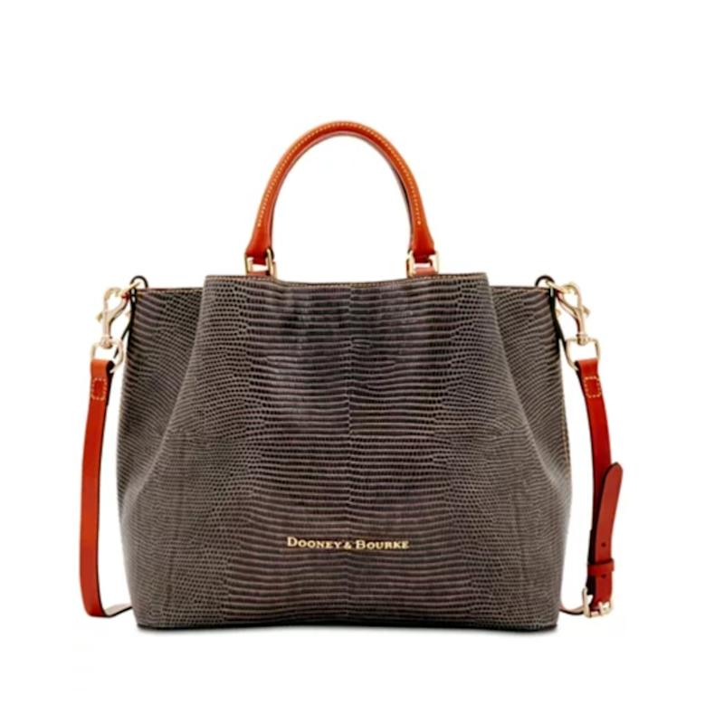Dooney & Bourke Lizard Embossed Leather Large Barlow Tote. (Photo: Macy's)