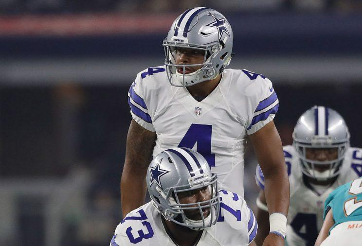 For now, it's Dak Prescott's offense. He's been a machine in the exhibition season. (Photo by Ronald Martinez/Getty Images)