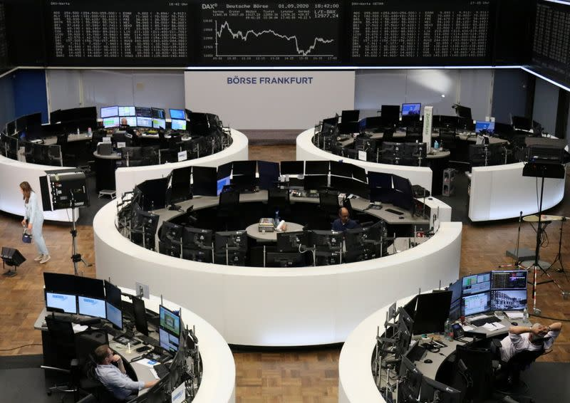 European shares open higher after four straight sessions of losses