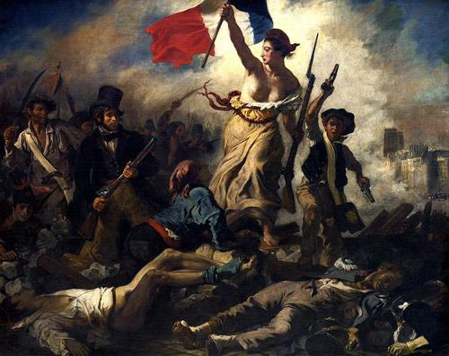 """""""Liberty Leading the People"""" by Eugene Delacroix."""