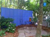 Using old shutters found on the side of the road, this blogger from Cottage in the Oaks was able to make a vibrant screen.