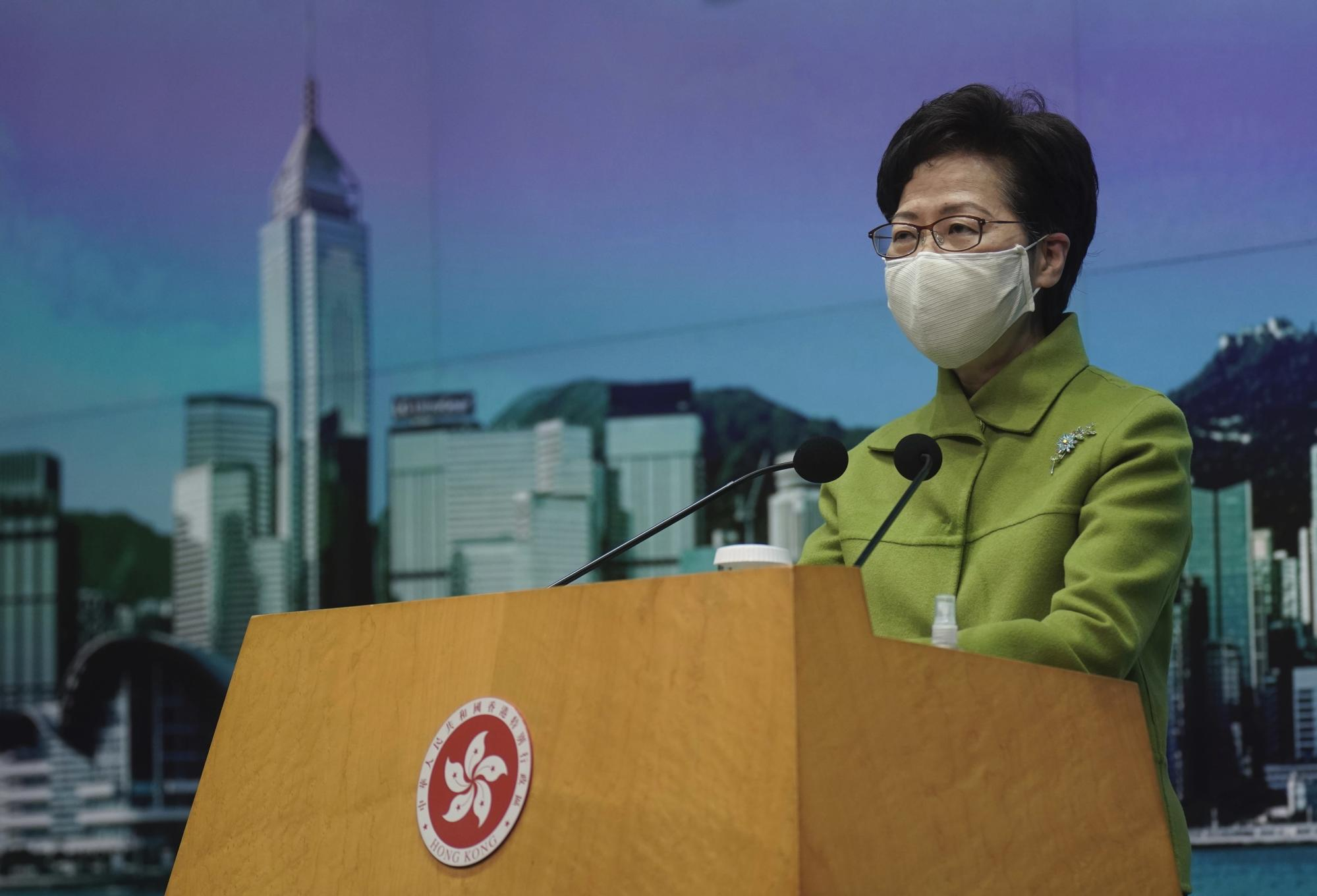 Lam gives support to electoral changes in Hong Kong