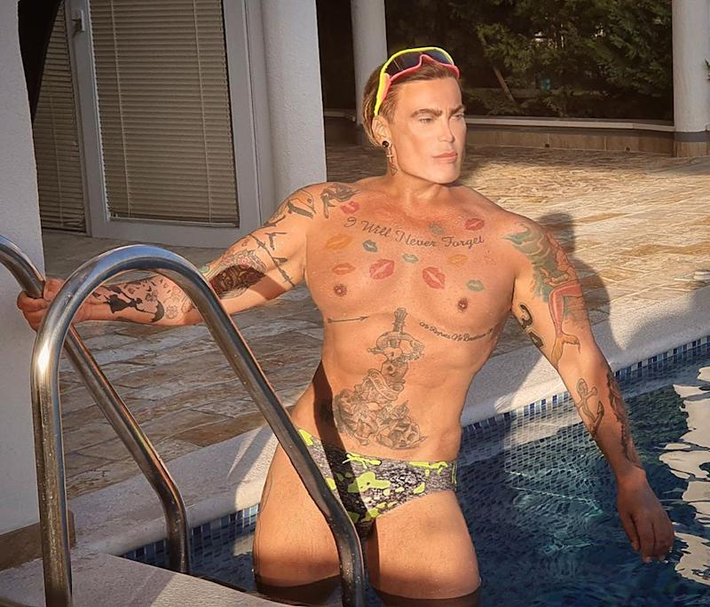 A photo of Neven Ciganovic from Zagreb, Croatia, wearing a green Speedo in a swimming pool