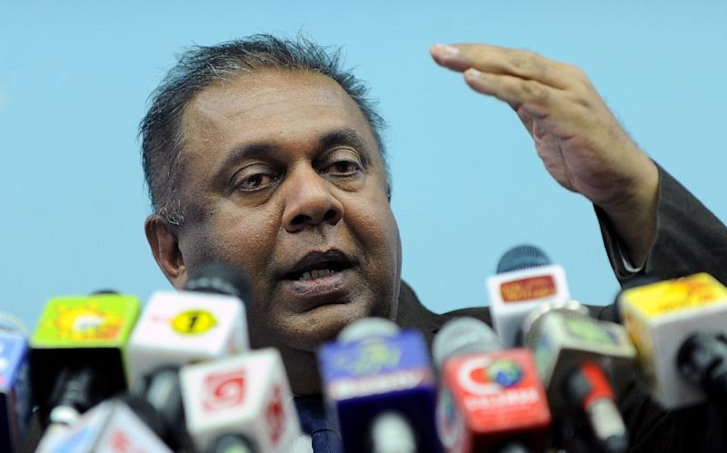 Sri Lanka's proposed war crimes investigation has been delayed by several months until September as the government focuses on impending parliamentary elections, Foreign Minister Mangala Samaraweera (pictured) said Wednesday (AFP Photo/Ishara S. Kodikara)