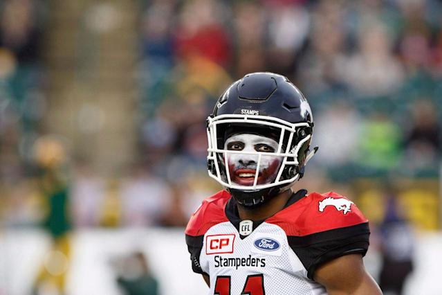 <p>Calgary was once again the best team on the field — and in the makeup department — during the CFL regular season. (Amber Bracken/CP </p>