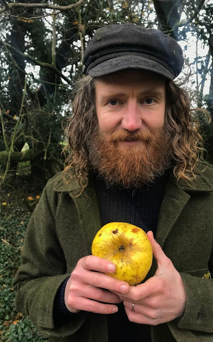 Archie Thomas discovered the new apple by chance earlier this month - PA
