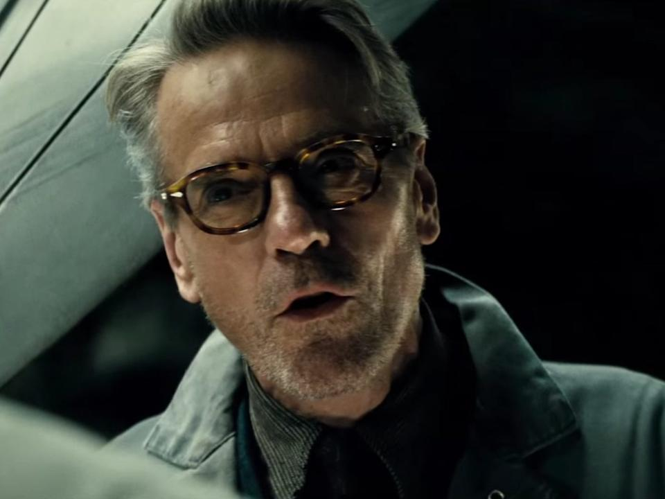 """Jeremy Irons in """"Batman v Superman: Dawn of Justice."""""""