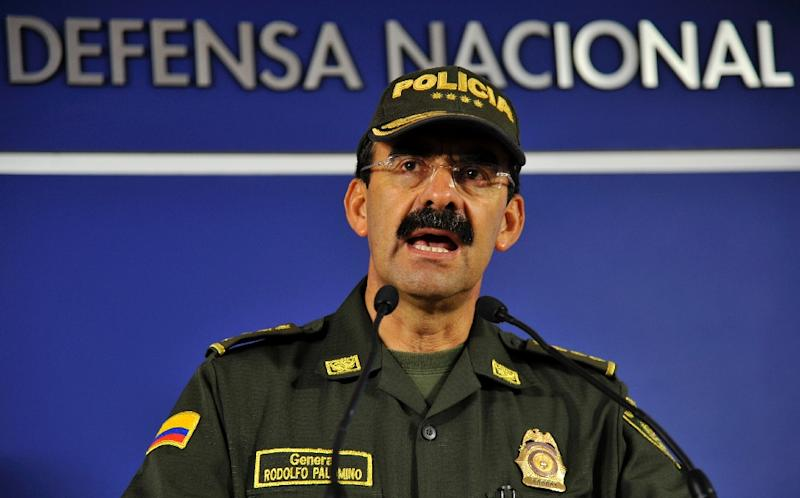 Colombia's national police chief Rodolfo Palomino (pictured) resigned after prosecutors launched a probe into allegations that he ran a male prostitution ring