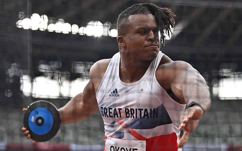 Lawrence Okoye in action - AFP