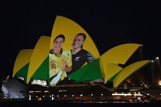Sydney Opera House was lit up in celebration of the joint bid