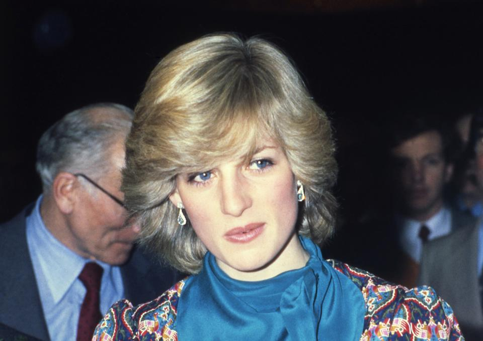 Princess Diana, the Princess of Wales in the 80's